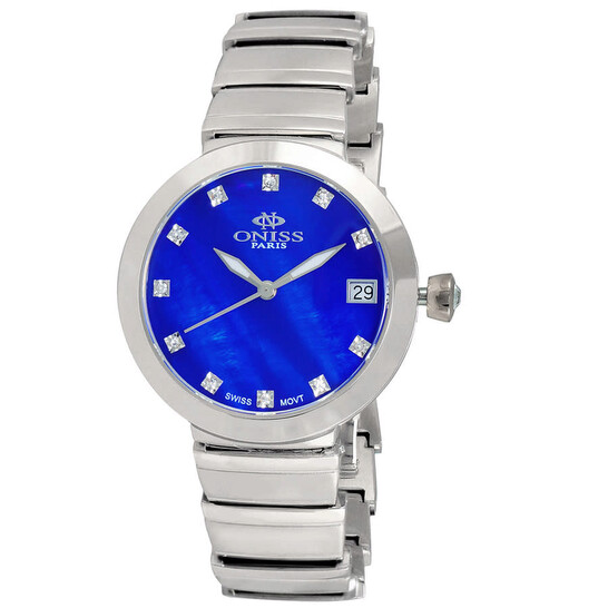 Oniss ON5559SS Quartz Blue Dial Ladies Watch ON5559SSLBU | Joma Shop