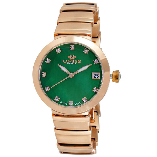 Oniss ON5559SS Quartz Green Dial Ladies Watch ON5559SSRGN   Joma Shop