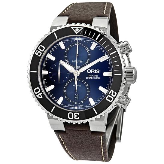Oris Aquis Blue Dial Automatic Men's Chronograph Watch 01 774 7743 4155-07 5 24 10EB | Joma Shop