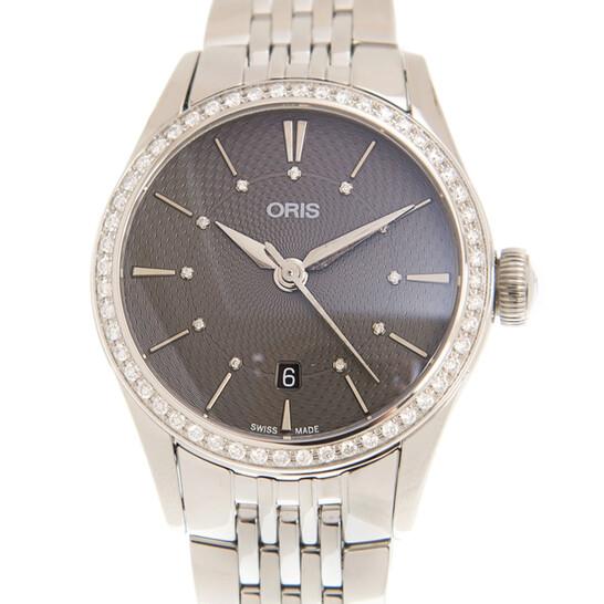 Oris Artelier Date Automatic Diamond Grey Dial Unisex Watch 561 7722 4953 8 14 79   Joma Shop