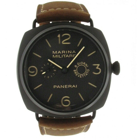 Panerai Radiomir Composite Marina Militaire Brown Dial Leather Men's Watch PAM00339 | Joma Shop