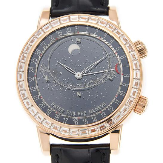 Patek Philippe Grand Complications Diamond Black Dial Men's Watch 6104R-001 | Joma Shop