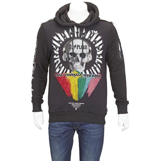 Philipp Plein Mens Embroidered Hoodie