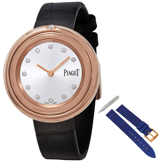 Piaget Possession 18kt Rose Gold Silver Diamond Dial Ladies Watch G0A43091   Joma Shop