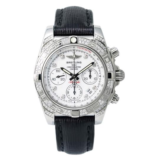 Breitling Pre-owned Breitling Chronomat Chronograph Automatic Chronometer Diamond White Dial Men's Watch AB0140 | Joma Shop