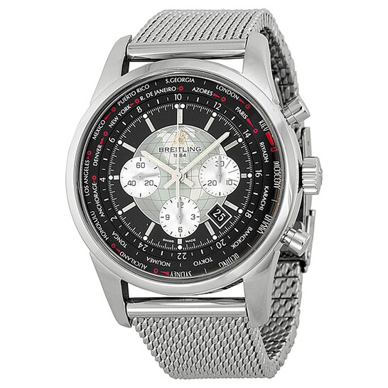 Breitling Pre-owned Breitling Transocean Chronograph Automatic Black Dial Men's Watch AB0510 | Joma Shop