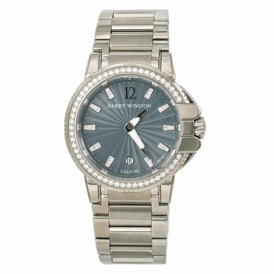 Harry Winston Pre-owned Harry Winston Ocean Sport Diamond Silver-tone Dial Ladies Watch 411LQ36Z   Joma Shop