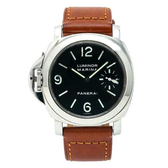 Panerai Pre-owned Panerai Luminor Mrina Destro Automatic Black Dial Men's Watch PAM00115 | Joma Shop