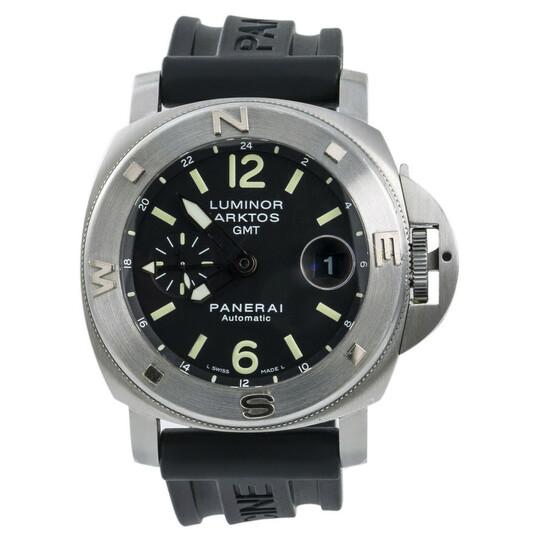 Panerai Pre-owned Panerai Luminor Submersible GMT Black Dial Men's Watch PAM00186   Joma Shop