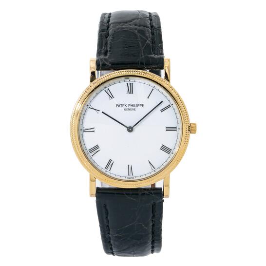 Patek Philippe Pre-owned Patek Philippe Calatrava Quartz White Dial Men's Watch 3520 | Joma Shop
