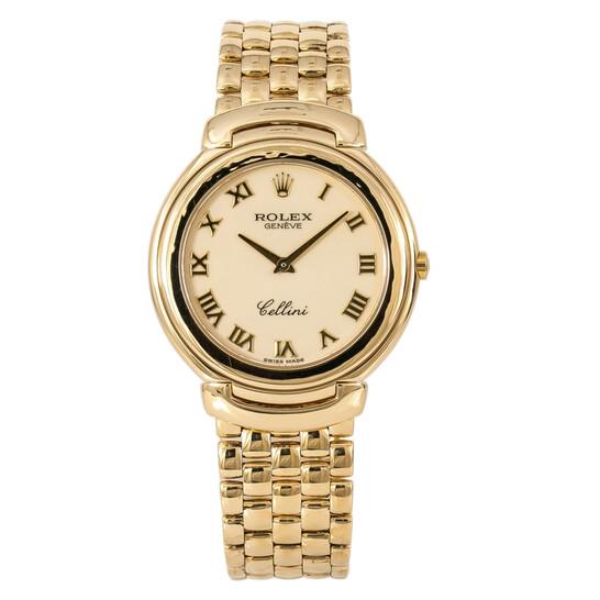 Rolex Pre-owned Rolex Cellini Beige Dial Men's Watch 6623/8   Joma Shop