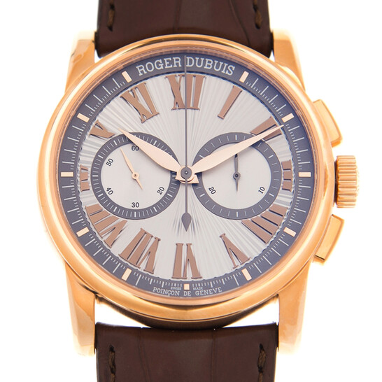 Roger Dubuis Hommage 18kt Rose Gold Chronograph Automatic Silver Dial Watch DBHO0569 | Joma Shop