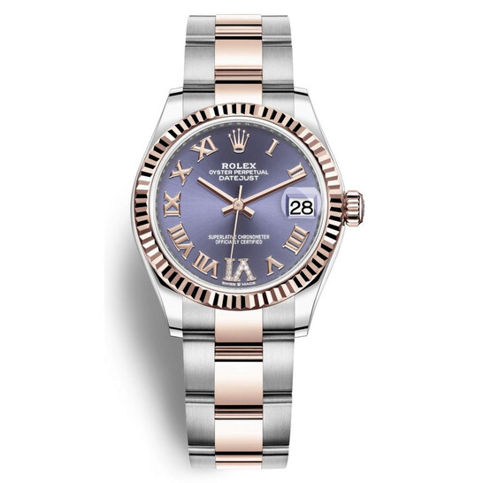 Rolex Datejust 31 Aubergine Diamond Dial Automatic Ladies Steel and 18kt Everose Gold Oyster Watch 278271AURDO   Joma Shop
