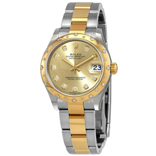Rolex Datejust 31 Automatic Champagne Diamond Dial Ladies Steel and 18kt Yellow Gold Oyster Watch 278343CDO | Joma Shop
