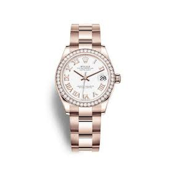 Rolex Datejust 31 Automatic White Dial Ladies 18 ct Everose Gold Oyster Watch 278285WRO | Joma Shop
