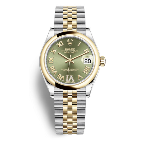 Rolex Datejust 31 Olive Green Dial Ladies Steel and 18kt Yellow Gold Jubilee Watch 278243GNRDJ | Joma Shop