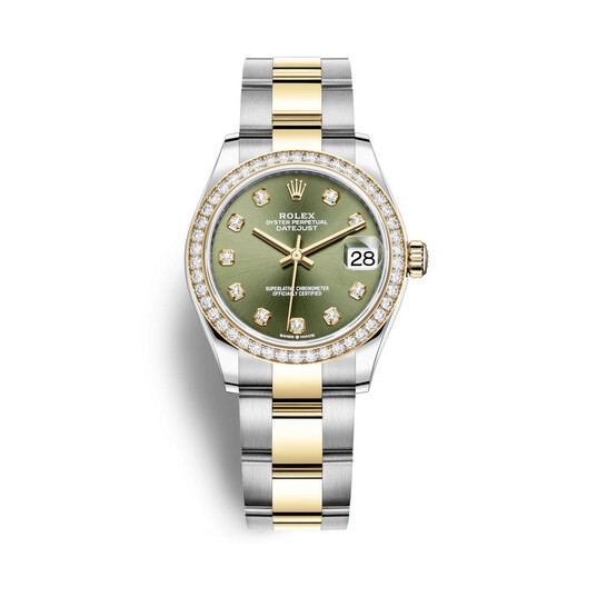 Rolex Datejust 31 Olive Green Diamond Dial Automatic Ladies Steel and 18kt Yellow Gold Oyster Watch 278383GNDO   Joma Shop