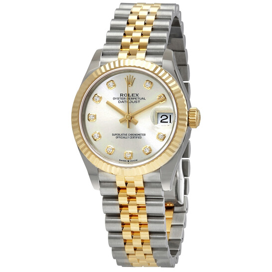 Rolex Datejust 31 Silver Diamond Dial Automatic Ladies Steel and 18kt Yellow Gold Jubilee Watch 278273SDJ   Joma Shop