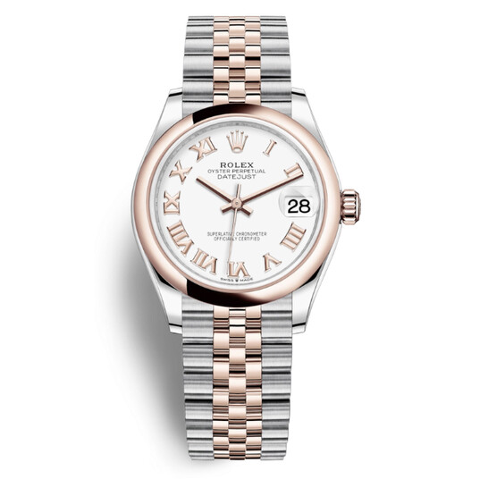 Rolex Datejust 31 White Dial Automatic Steel and 18kt Everose Gold Jubilee Watch 278241WRJ   Joma Shop