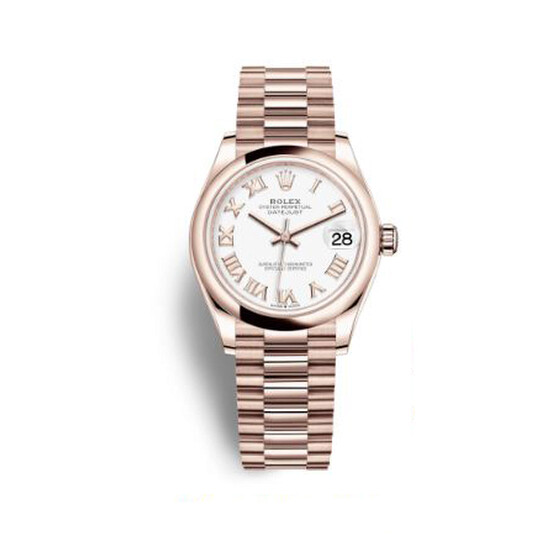 Rolex Datejust 31 White Dial Ladies 18 ct Everose Gold President Watch 278245WRP | Joma Shop