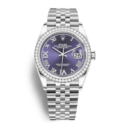 Rolex Datejust 36 Aubergine Diamond Dial Automatic Unisex Jubilee Watch 126284AURDJ   Joma Shop