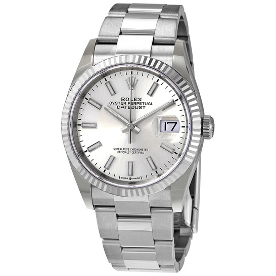 Rolex Datejust 36 Automatic Silver Dial Ladies Oyster Watch 126234SSO   Joma Shop