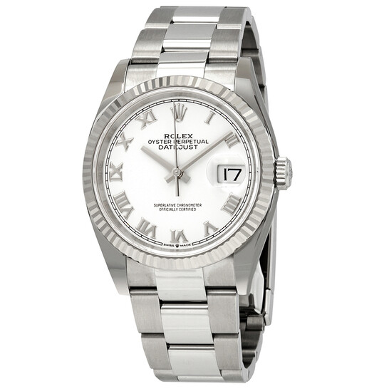 Rolex Datejust 36 Automatic White Dial Ladies Oyster Watch 126234WRO | Joma Shop