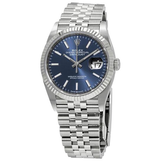 Rolex Datejust 36 Blue Dial Automatic Ladies Jubilee Watch 126234BLSJ | Joma Shop