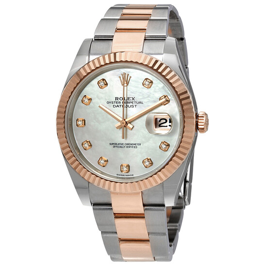 Rolex Datejust Automatic Diamond Men's Steel and 18ct Everose Gold Oyster Watch 126331MDO | Joma Shop