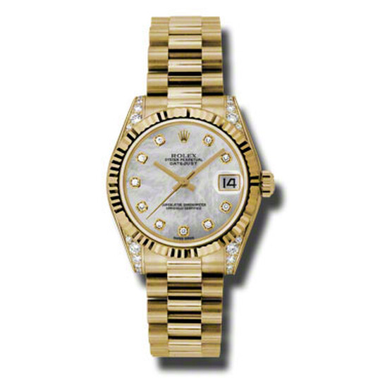 Rolex Datejust Lady 31 Mother Of Pearl Dial 18K Yellow Gold President Automatic Ladies Watch 178238MDP | Joma Shop