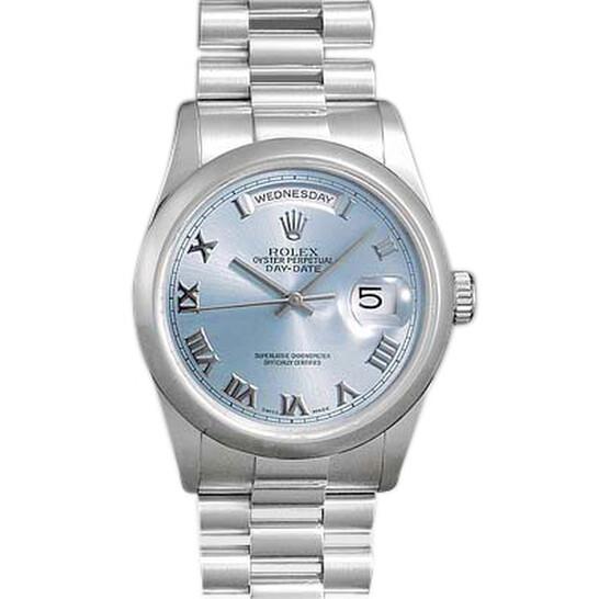 Rolex Day Date Blue Roman Dial President Bracelet Men's Watch 118206BLR | Joma Shop