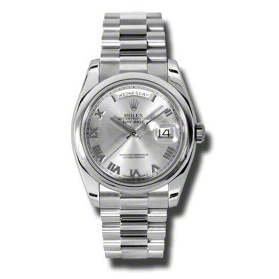 Rolex Day-Date Grey Dial Platinum President Automatic Men's Watch 118206GYRP   Joma Shop