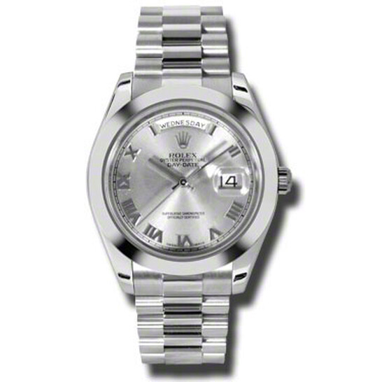 Rolex Day-Date II Rhodium Dial Platinum President Automatic Men's Watch 218206RRP | Joma Shop