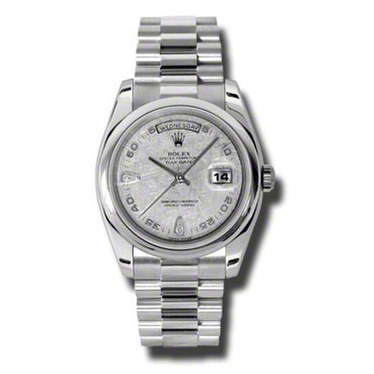 Rolex Day-Date Meteorite Dial Platinum President Automatic Ladies Watch 118206MTDP | Joma Shop