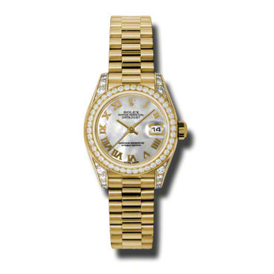Rolex Lady-Datejust 26 Mother Of Pearl Dial 18K Yellow Gold President Automatic Ladies Watch 179158MRP | Joma Shop