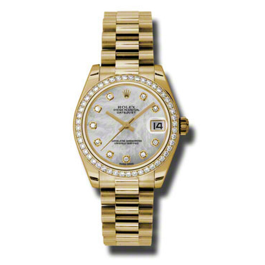 Rolex Lady-Datejust 31 Mother Of Pearl Dial 18K Yellow Gold President Automatic Ladies Watch 178288MDP   Joma Shop
