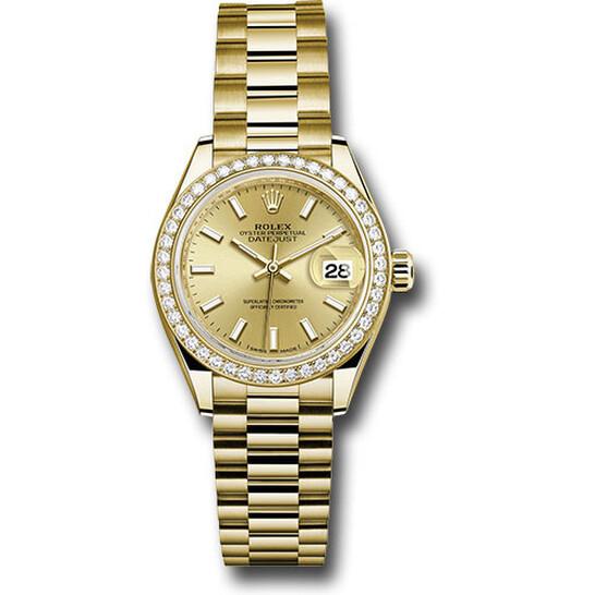 Rolex Lady Datejust Automatic 18 Carat Yellow Gold President Watch 279138CSP | Joma Shop