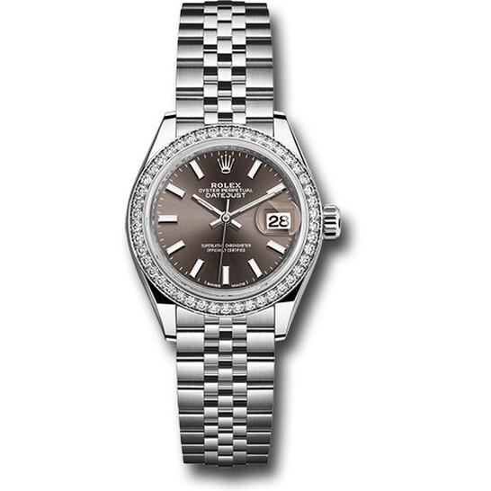 Rolex Lady Datejust Automatic Grey Dial Ladies Jubilee Watch 279384GYSJ | Joma Shop