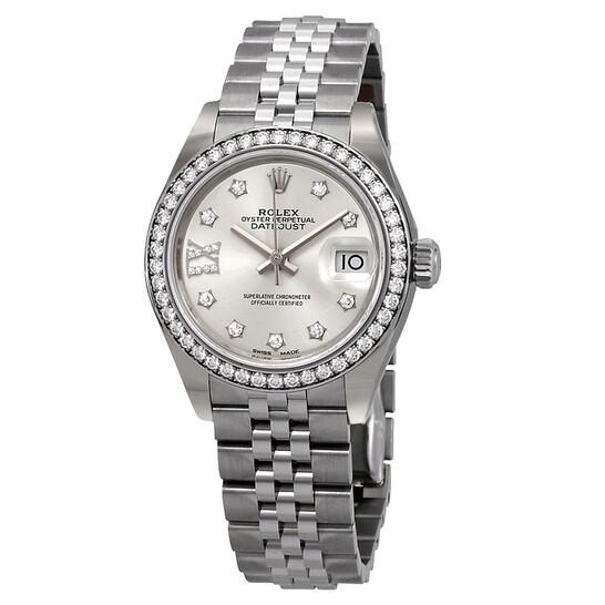Rolex Lady Datejust Automatic Silver Roman Diamond Dial Ladies Jubilee Watch 279384SRDJ   Joma Shop