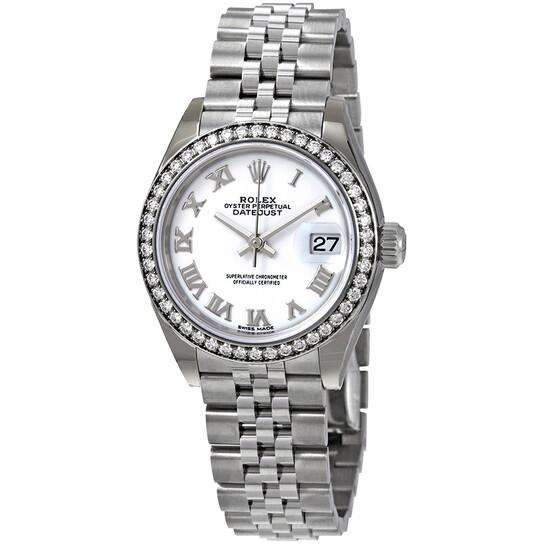 Rolex Lady Datejust Automatic White Dial Ladies Jubilee Watch 279384WRJ   Joma Shop