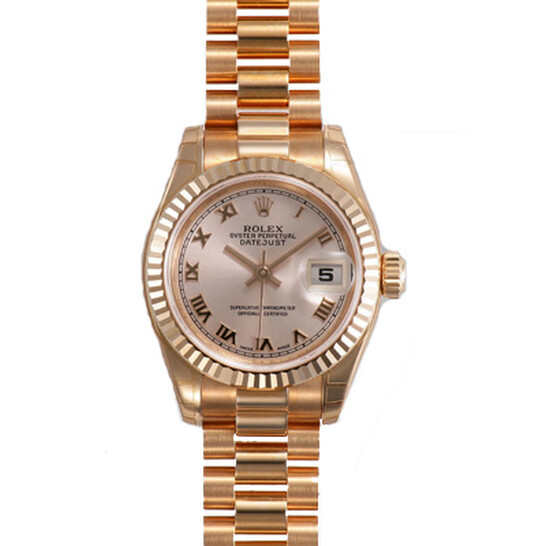 Rolex Lady-Datejust 26 Champagne Dial 18k Rose Gold President Automatic Ladies Watch 179175CRP | Joma Shop