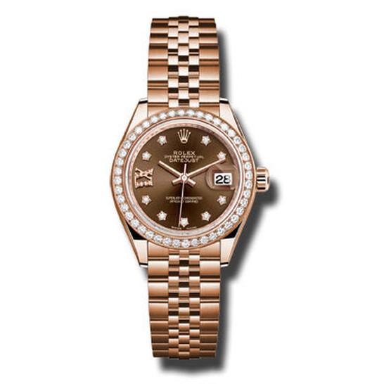 Rolex Lady Datejust Chocolate Diamond Dial 18K Everose Gold Automatic Watch 279135CHDJ   Joma Shop