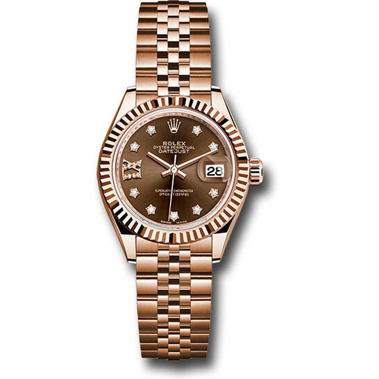 Rolex Lady Datejust Chocolate Diamond Dial 18K Everose Gold Watch 279175CHRDJ   Joma Shop