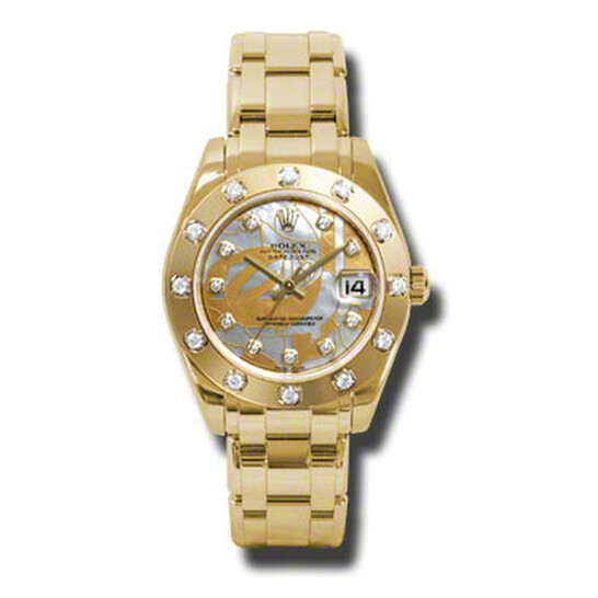 Rolex Lady-Datejust Pearlmaster Goldust Dream Mother Of Pearl Diamond Dial 18K Yellow Gold Automatic Ladies Watch 81318GDDMDPM | Joma Shop