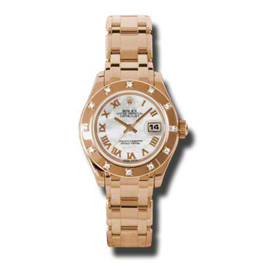 Rolex Lady-Datejust Pearlmaster Mother Of Pearl Dial 18K Everose Gold Automatic Ladies Watch 80315MRPM   Joma Shop