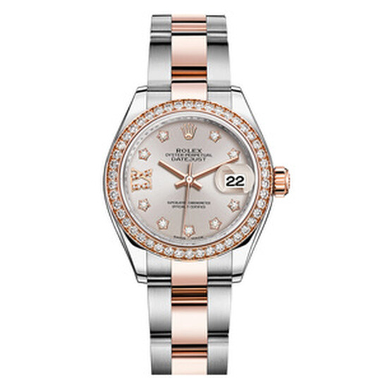 Rolex Lady Datejust Sundust Diamond Dial Automatic Steel and 18ct Everose Gold Oyster Watch 279381SNRDO   Joma Shop