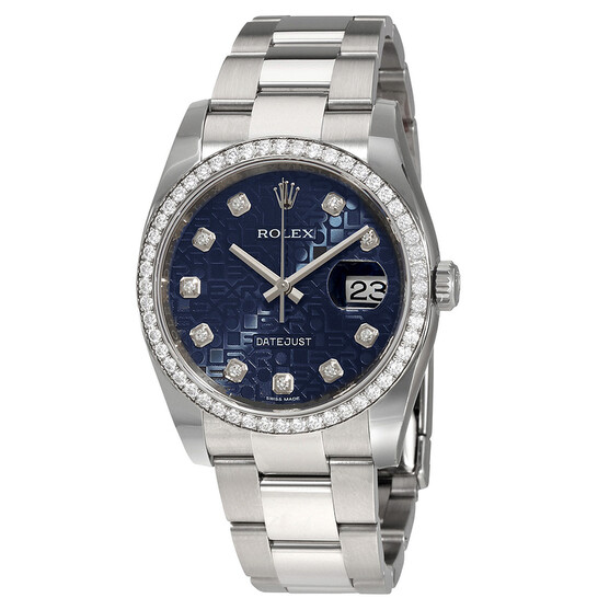 Rolex Oyster Perpetual Datejust 36 Blue Dial Stainless Steel Bracelet Automatic Ladies Watch 116244BLJDO   Joma Shop