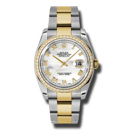 Rolex Oyster Perpetual Datejust 36 Mother of Pearl Dial Stainless Steel and 18K Yellow Gold Bracelet Automatic Ladies Watch 116243MRO | Joma Shop