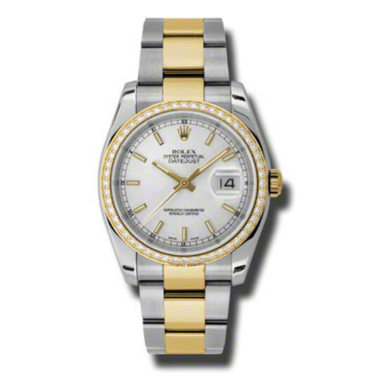 Rolex Oyster Perpetual Datejust 36 Silver Dial Stainless Steel and 18K Yellow Gold Bracelet Automatic Ladies Watch 116243SSO | Joma Shop