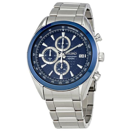 Seiko Chronograph Blue Dial Men's Watch SSB177P1 | Joma Shop